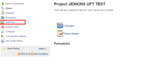 Jenkins Build Now