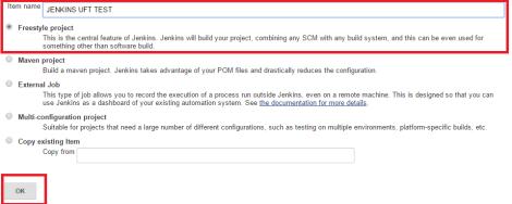 Jenkins New Job Name